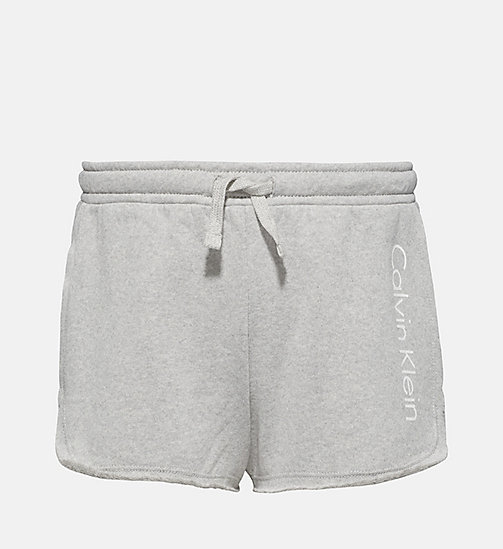 CALVINKLEIN Girls Shorts - Core Placed Logo - GREY HEATHER - CALVIN KLEIN Girls - main image