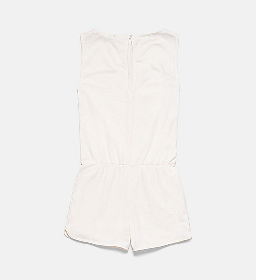 CALVINKLEIN Girls Romper - Core Placed Logo - CONFETTI GREY HEATHER - CALVIN KLEIN Girls - detail image 1