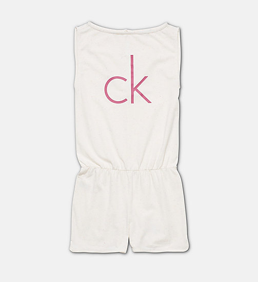 CALVINKLEIN Girls Romper - Core Placed Logo - CONFETTI GREY HEATHER - CALVIN KLEIN Girls - main image