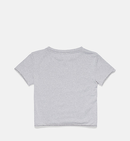 CALVINKLEIN Girls Cropped Top - Core Placed Logo - GREY HEATHER - CALVIN KLEIN SWIMWEAR - detail image 1