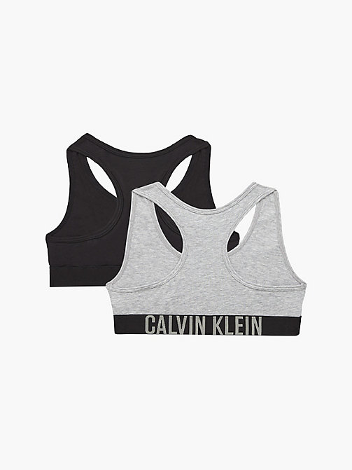 CALVINKLEIN 2 Pack Girls Bralettes - Intense Power - 1GREYHEATHER/1BLACK - CALVIN KLEIN GIRLS - detail image 1