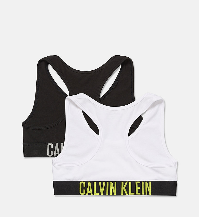 CALVINKLEIN 2 Pack Girls Bralettes - Intense Power - 1 GREY HEATHER/ 1 BLACK - CALVIN KLEIN UNDERWEAR - detail image 1