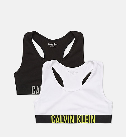CALVINKLEIN 2 Pack Girls Bralettes - Intense Power - 1 WHITE/1 BLACK - CALVIN KLEIN GIRLS - main image