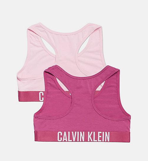 ... CALVIN KLEIN Lot de 2 brassières pour fille - Intense Power -  1MAGENTAHAZE 1UNIQUEPINK - b2cae763c3bf