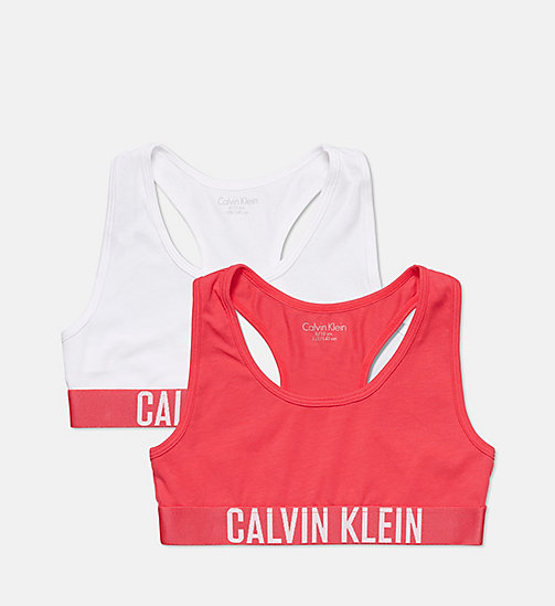 CALVINKLEIN 2 Pack Girls Bralettes - Intense Power - 1 RASPBERRY/1 WHITE - CALVIN KLEIN GIRLS - main image