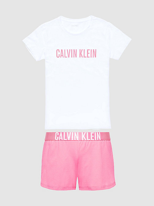 CALVIN KLEIN Girls PJ Set - Intense Power - WHITE/ PINK LEMONADE - CALVIN KLEIN GIRLS - detail image 1