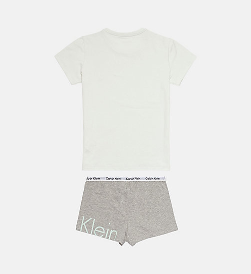 CALVINKLEIN Girls PJ Set - Modern Cotton - SPRAY W/ GREY HEATHER - CALVIN KLEIN PYJAMAS - detail image 1