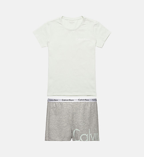 CALVINKLEIN Ensemble de pyjama fille - Modern Cotton - SPRAY W/ GREY HEATHER - CALVIN KLEIN FILLES - image principale