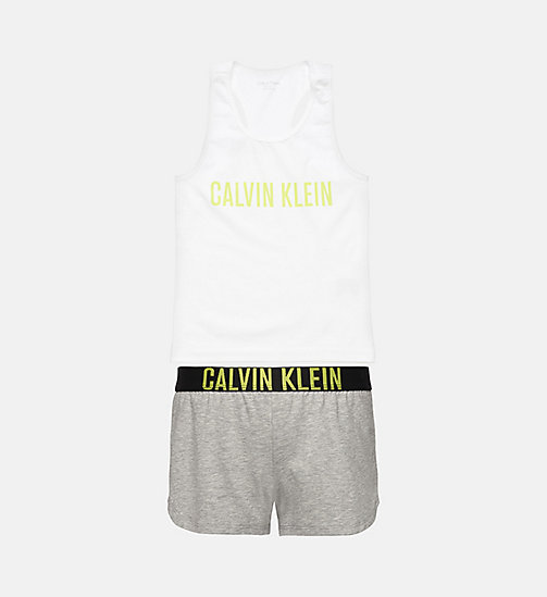 CALVINKLEIN Ensemble de pyjama fille - Intense Power - WHITE/GREY HTR - CALVIN KLEIN FILLES - image principale