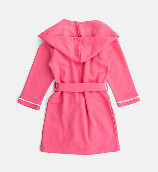 CALVINKLEIN Girls Hooded Robe - Modern Cotton - PINK LEMONADE - CALVIN KLEIN PYJAMAS - detail image 1