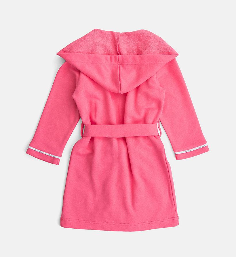 girls hooded robe modern cotton calvin klein. Black Bedroom Furniture Sets. Home Design Ideas