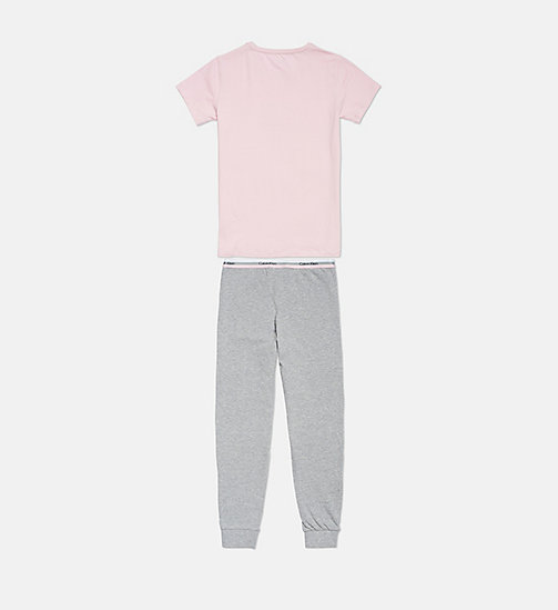 CALVINKLEIN Girls PJ Set - CK Graphic - 1UNIQUEPINK/1GREYHEATHER - CALVIN KLEIN GIRLS - detail image 1