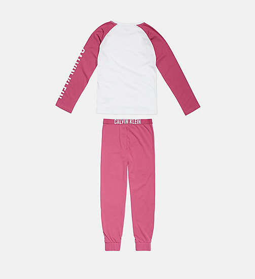 CALVIN KLEIN Girls PJ Set - Intense Power - 1WHITE/1MAGENTAHAZE - CALVIN KLEIN GIRLS - detail image 1