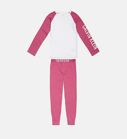 CALVIN KLEIN Girls PJ Set - Intense Power - 1WHITE/1MAGENTAHAZE - CALVIN KLEIN GIRLS - main image