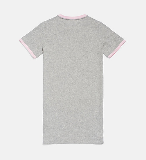 CALVIN KLEIN Girls Shirtdress - CK Graphic - GREY HEATHER - CALVIN KLEIN GIRLS - detail image 1