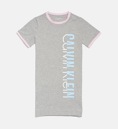 CALVINKLEIN Girls Shirtdress - CK Graphic - GREY HEATHER - CALVIN KLEIN GIRLS - main image
