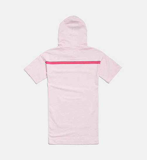 CALVINKLEIN Girls Hooded Shirtdress - PINK HEATHER - CALVIN KLEIN GIRLS - detail image 1