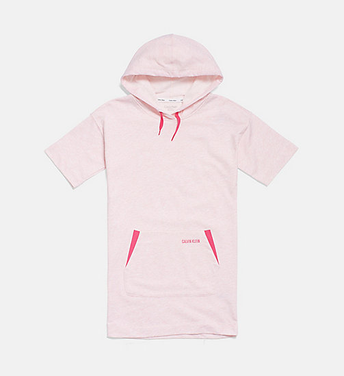 CALVIN KLEIN Girls Hooded Shirtdress - PINK HEATHER - CALVIN KLEIN GIRLS - main image