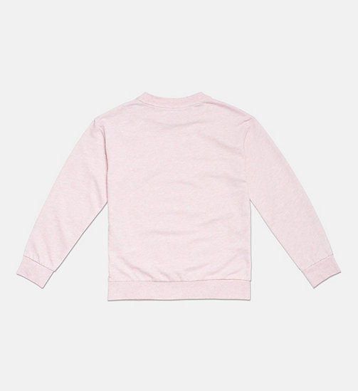 CALVIN KLEIN Accent Stripe Girls Sweatshirt - PINK HEATHER - CALVIN KLEIN GIRLS - detail image 1