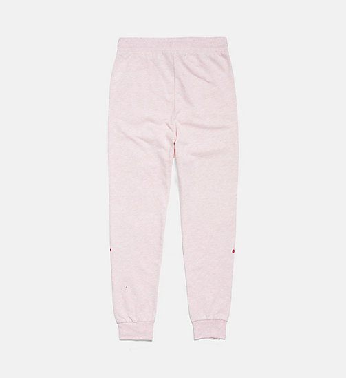 CALVIN KLEIN Accent Stripe Girls Joggers - PINK HEATHER - CALVIN KLEIN GIRLS - detail image 1