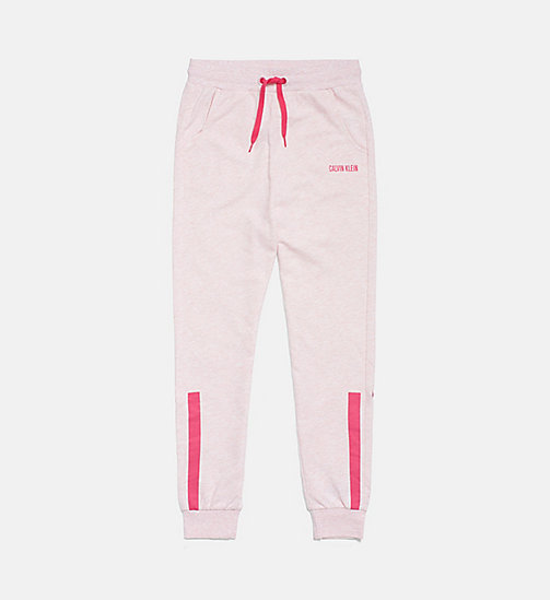CALVIN KLEIN Accent Stripe Girls Joggers - PINK HEATHER - CALVIN KLEIN GIRLS - main image