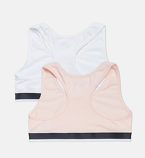 CALVIN KLEIN 2 Pack Girls Bralettes - CK Graphic - 1 CHINTZ ROSE/ 1 WHITE - CALVIN KLEIN GIRLS - detail image 1