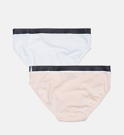 CALVIN KLEIN 2 Pack Girls Bikinis - CK Graphic - 1 CHINTZ ROSE/ 1 WHITE - CALVIN KLEIN GIRLS - detail image 1