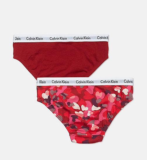 ... CALVIN KLEIN Lot de 2 culottes pour fille - Modern Cotton -  1CAMOHEARTSKIPATROL 1DAHLIARED - a2449babf264