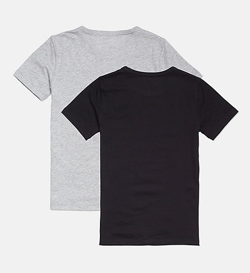 CALVINKLEIN Lot de 2 t-shirts pour fille - Modern Cotton - 1 GREY HEATHER/ 1 BLACK - CALVIN KLEIN FILLES - image détaillée 1