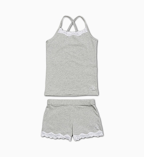 CALVIN KLEIN Pigiama - CK Applique - GREY HEATHER - CALVIN KLEIN RAGAZZA - immagine principale