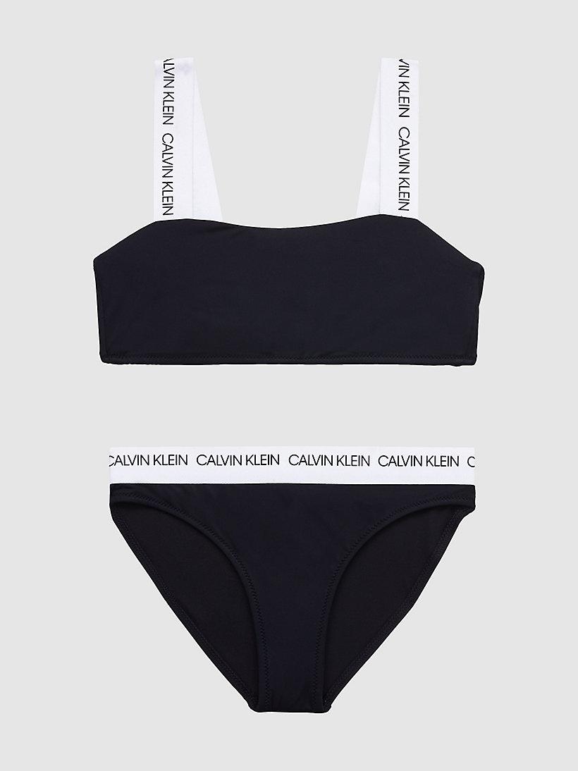 Calvin Klein Girls Black Bandeau Bikini