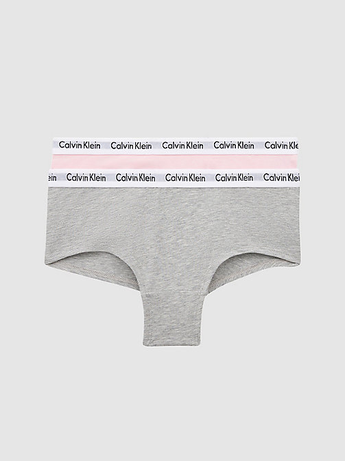 CALVIN KLEIN 2 Pack Girls Hipsters - Modern Cotton - GREY HTR/UNIQUE - CALVIN KLEIN GIRLS - main image