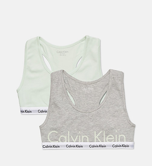 CALVINKLEIN 2 Pack Girls Bralettes - Modern Cotton - 1 GRY HTHR/1 SPRAY - CALVIN KLEIN GIRLS - main image