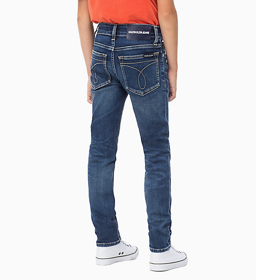 Slim-Jeans - AUTHENTIC BLUE STRETCH - CALVIN KLEIN JEANS JUNGEN - main image 1