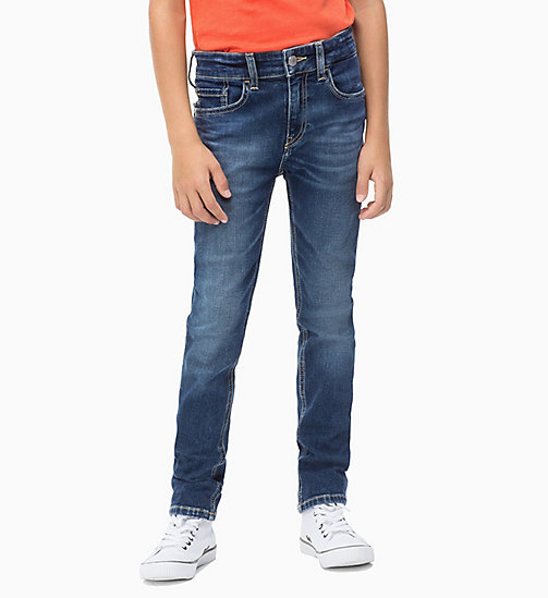 Slim-Jeans - AUTHENTIC BLUE STRETCH - CALVIN KLEIN JEANS JUNGEN - main image