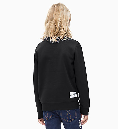 Logo Sweatshirt - BLACK BEAUTY - CALVIN KLEIN JEANS BOYS - detail image 1