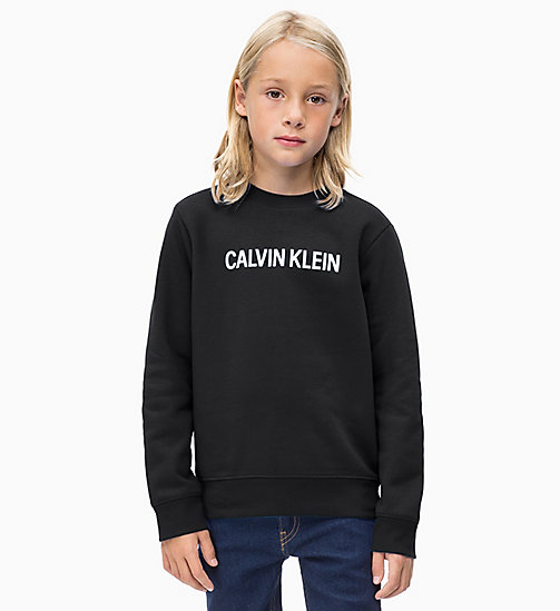 Logo Sweatshirt - BLACK BEAUTY - CALVIN KLEIN JEANS BOYS - main image