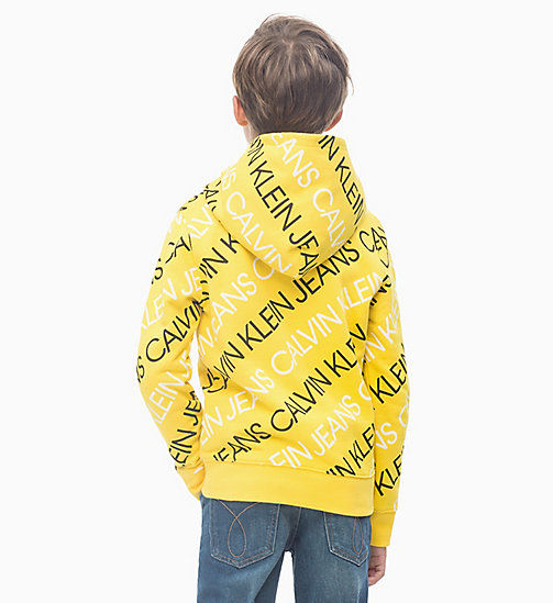 CALVIN KLEIN JEANS All-over Logo Hoodie - LEMON - CALVIN KLEIN JEANS BOYS - detail image 1