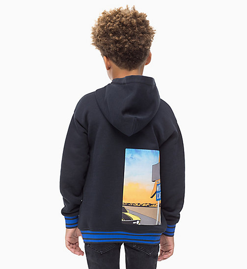 Photo Print Hoodie - BLACK BEAUTY - CALVIN KLEIN JEANS MEN - detail image 1