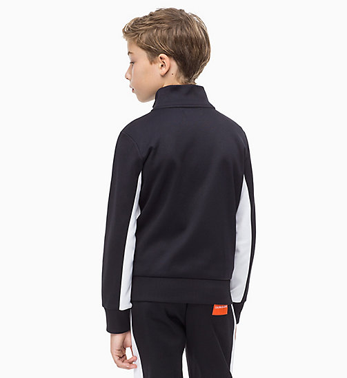 CALVIN KLEIN JEANS Colour-Blocked Track Jacket - BLACK BEAUTY - CALVIN KLEIN JEANS BOYS - detail image 1