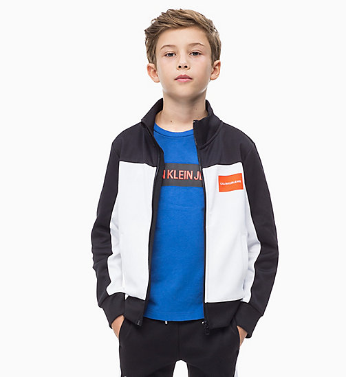 CALVIN KLEIN JEANS Colour-Blocked Track Jacket - BLACK BEAUTY - CALVIN KLEIN JEANS BOYS - main image