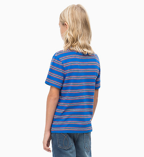 CALVIN KLEIN JEANS Striped Logo T-shirt - NAUTICAL BLUE - CALVIN KLEIN JEANS MEN - detail image 1