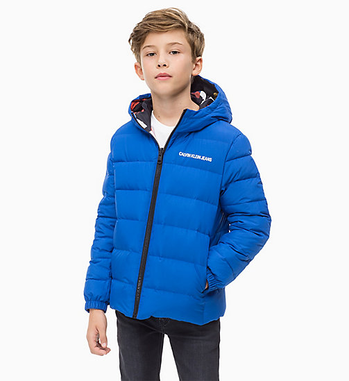 CALVIN KLEIN JEANS Reversible Down Jacket - NAUTICAL BLUE - CALVIN KLEIN JEANS BOYS - detail image 1