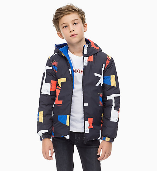 CALVIN KLEIN JEANS Reversible Down Jacket - NAUTICAL BLUE - CALVIN KLEIN JEANS BOYS - main image