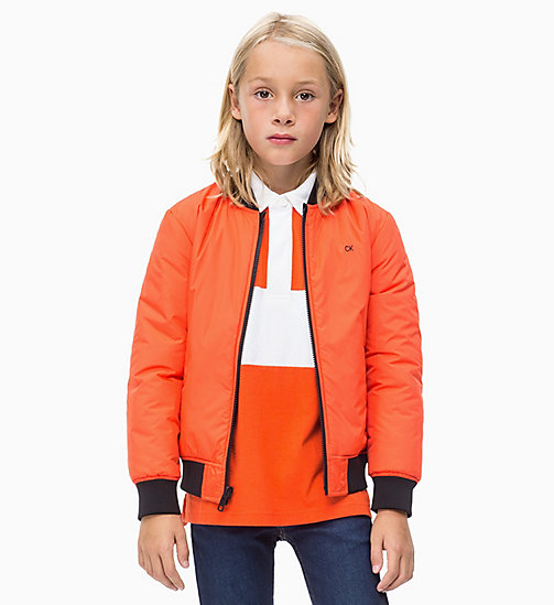 CALVIN KLEIN JEANS Reversible Satin Bomber - ORANGE COM - CALVIN KLEIN JEANS MEN - main image