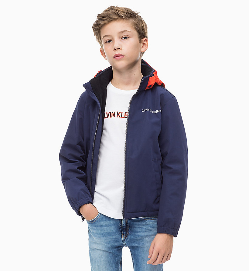 CALVIN KLEIN JEANS Reversible Hood Jacket - NAUTICAL BLUE - CALVIN KLEIN JEANS MEN - main image