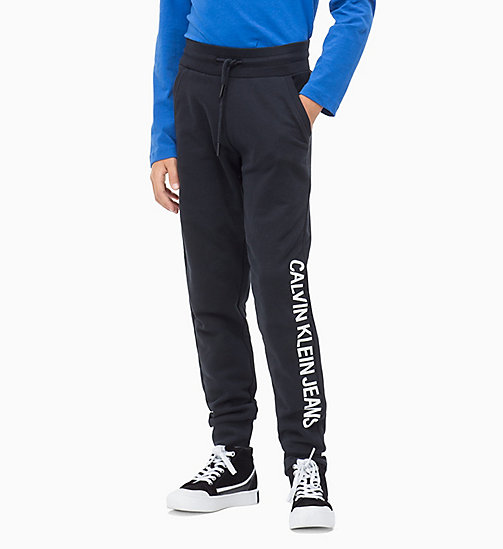 Shiny Logo Joggers - BLACK BEAUTY - CALVIN KLEIN JEANS MEN - main image