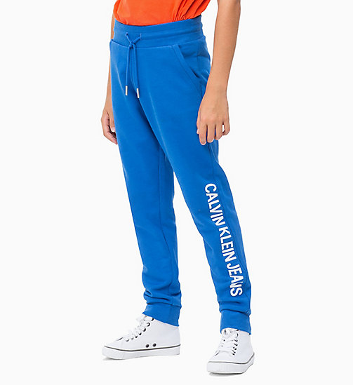 CALVIN KLEIN JEANS Shiny Logo Joggers - NAUTICAL BLUE - CALVIN KLEIN JEANS MEN - main image