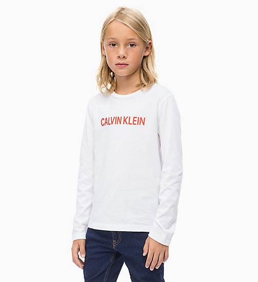 CALVIN KLEIN JEANS Long Sleeve T-shirt - BRIGHT WHITE - CALVIN KLEIN JEANS BOYS - main image