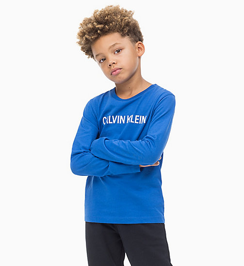 CALVIN KLEIN JEANS Long Sleeve T-shirt - NAUTICAL BLUE - CALVIN KLEIN JEANS BOYS - main image